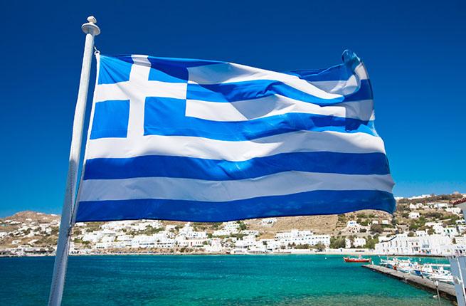 фото флаг греции